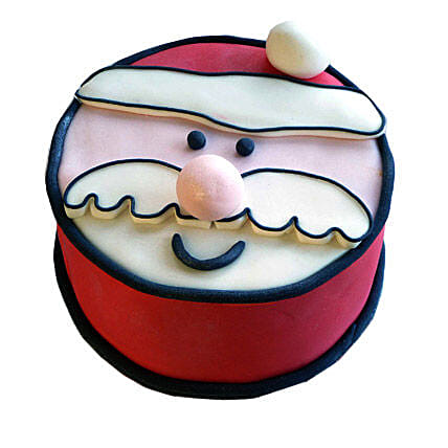 Santa Claus Xmas Cake 2kg Eggless