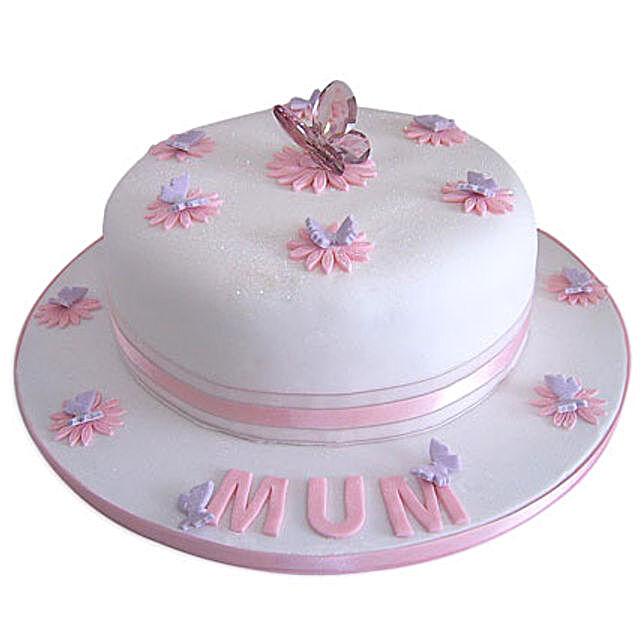 Simple and Sweet Love Mom Cake 4kg Eggless Pineapple