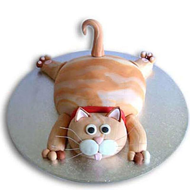 Tabby Cat Cake 3Kg Eggless Chocolate