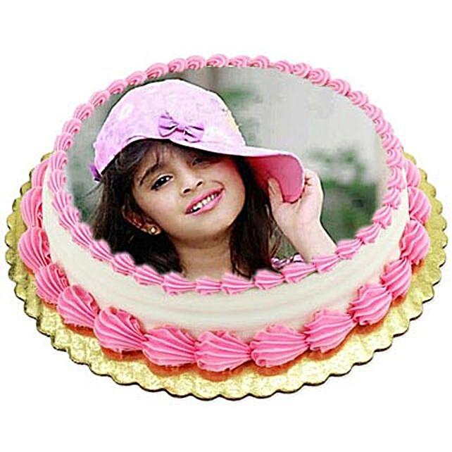 Vanilla Photo Cake1kg Eggless