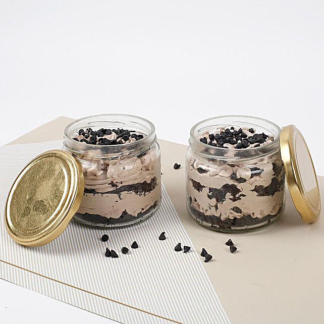 Vivacious Chocolate Jar Cake Set of 4