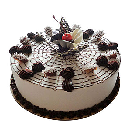 Web Of Happiness Cake Half kg Vanilla Eggless