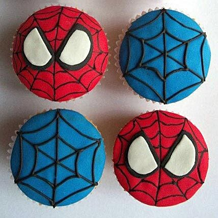 World of Spiderman Cupcakes 6