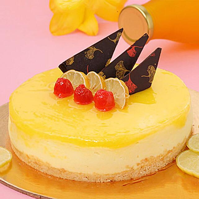 Zesty Lemon Cheesecake Half KG Eggless