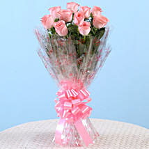 10 Charming Pink Roses Bouquet: Womens Day Gifts for Wife