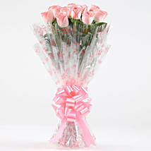 10 Charming Pink Roses Bouquet: Flowers for Anniversary