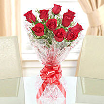 10 Red Roses Exotic Bouquet: Send Flowers to Haldwani
