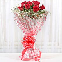 10 Red Roses Exotic Bouquet: Flower Delivery in Rewari