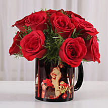15 Red Roses Picture Mug: Birthday Flowers