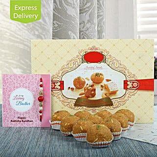 1Kg Besan Ladoo N Rakhi: Send Rakhi With Sweets to Roorkee