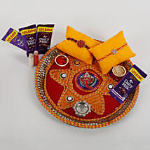 2 Rakhis And Cadbury Chocolates Combo: Rakhi Gifts to Alwar