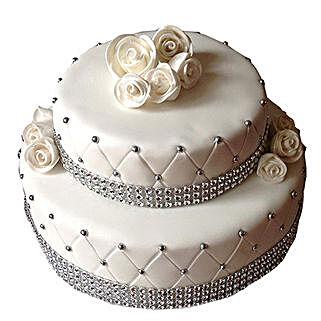 2 Tier Designer Fondant Cake: