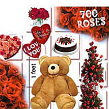 700 Roses Love Special: Send Flowers & Teddy Bears to Gurgaon