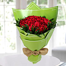 75 Beautiful Red Roses Bunch: Designer Bouquet