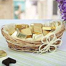 A Basket Of Golden Treat: Valentines Day Gift Baskets