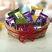 A Basket Of Sweet Treat: Send Gold Rakhi