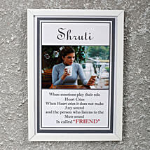 Adorable Personalized Friendship Day Frame: Personalised Friendship Day Gifts