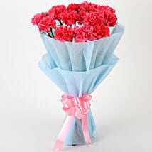 Adorable Pink Carnations Bouquet: Birthday Flowers