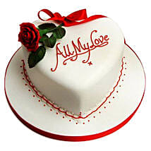 All My Love Cake: Eggless cakes for anniversary