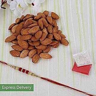 Almond delight combo: Send Designer Rakhi
