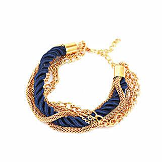 Amazing Navy Blue Stacked Party Bracelet: Friendship day Bracelets