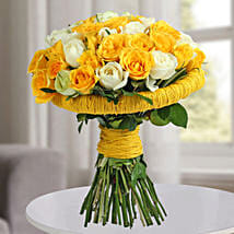 Amazing Yellow Roses Bunch: