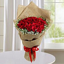 Appealing Red Roses Bunch: Valentines Day Roses