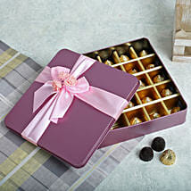 Assorted Chocolates Pink Box: Send Valentine Gifts to Faridabad