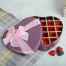 Assorted Chocolates Pink Heart Box: Gift Delivery in Bhandara