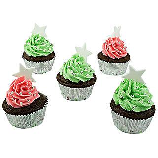 Assortment Of Choco Cream Cupcakes:
