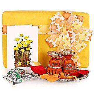Auspicious Charan Kamal Hamper: Send Handicraft Gifts for Diwali