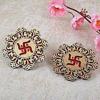 Auspicious Swastik Door Soan: Door Soan & Rakhi