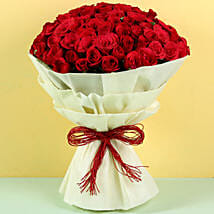 Authentic Love 100 Roses: Valentine Flowers Indore