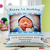 Baby Announcement Personalized Cushion: Birthday Cushions