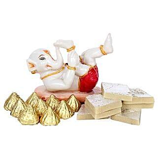 Bal Ganesha Combo: Diwali Sweets Faridabad