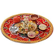 Bal Krishna With Puja Thali: Send Handicraft Gifts to Gurgaon