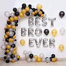 Balloon Décor For Best Bro Ever: Decoration Services to Pune