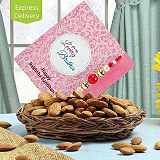 Basket Of Health For Bro: Designer Rakhi