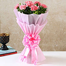 Beautiful Pink Carnations Bouquet: Send Congratulations Flowers for New Mom