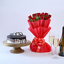 Beautiful Red Rose Hamper: Flowers & Cakes Indore