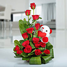 Beauty of Nature Basket: Rose Day Gifts