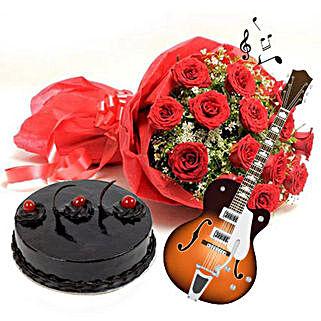 Beauty Taste and Music: Send Flowers & Guitarist Service