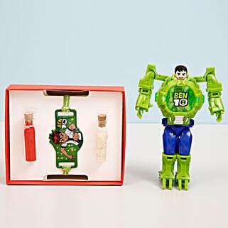 Ben 10 Transformer Watch & Rakhi Combo: Send Rakhi Best Seller Gifts
