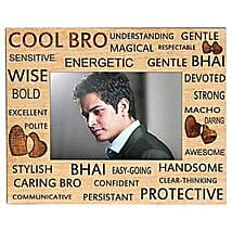 Best Bro Ever Photo Frame: Send Personalised Photo Frames to Bengaluru