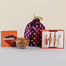 Best Brother Rakhi Combo With Almonds: Rakhi with Dryfruits