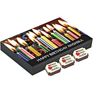 Birthday Gift Box- 12 Personalised Chocolates: Personalised Chocolates Gurgaon