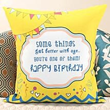 Birthday Message Cushion: Birthday Cushions