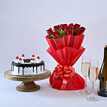 Black Forest and Flowers: Send Anniversary Gifts to Bareilly
