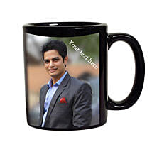 Black Mug Personalized: Personalised Gifts Delhi