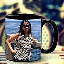 Black Photo Mug Personalized: Customized Gifts for Her